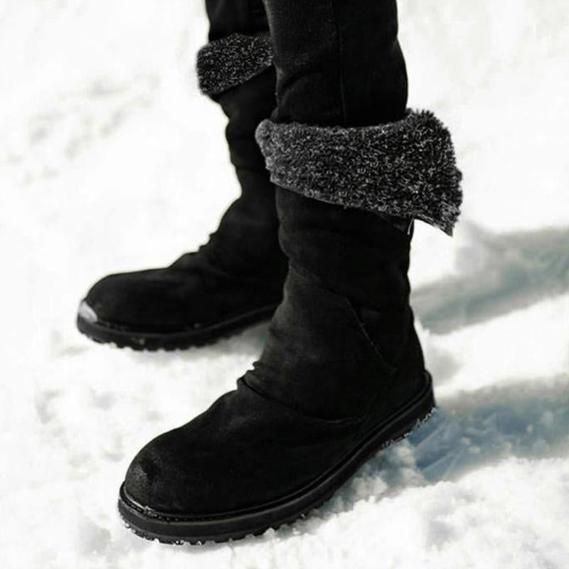 Artificial Leather Warm Soft Fur Lined  Snow Boots