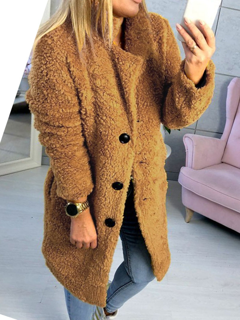 Long Sleeve Solid Casual Coat