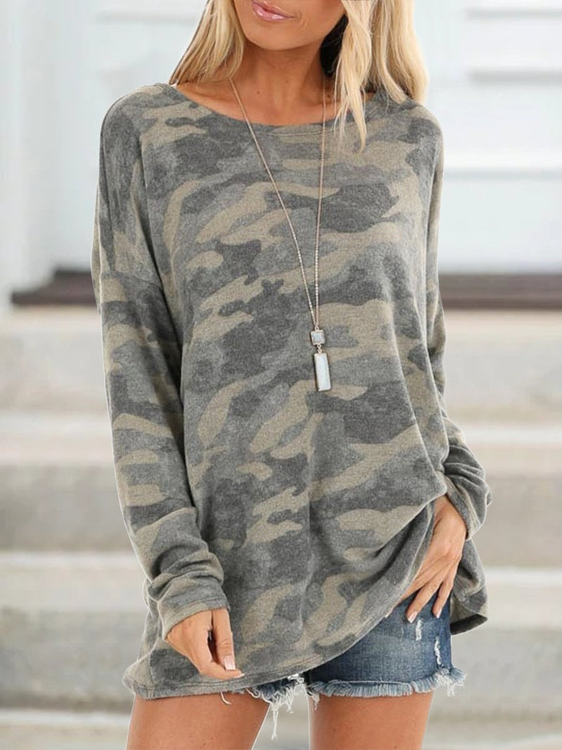 Long Sleeve Casual blouses with round neck