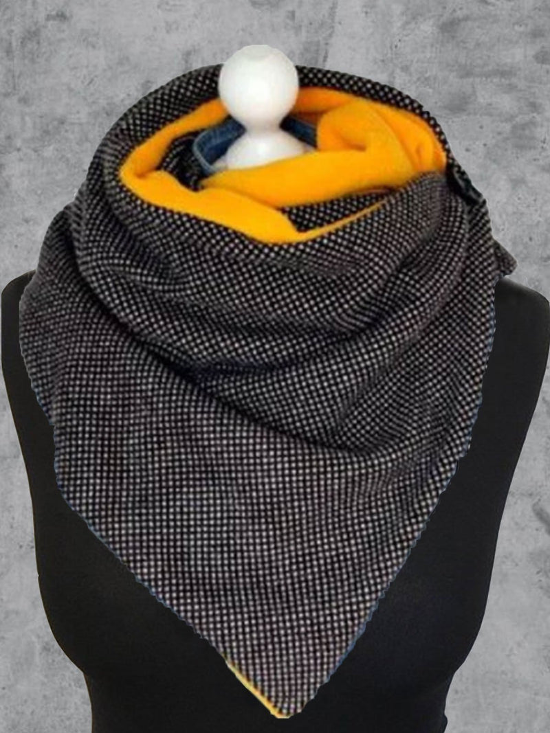 Color-Block Casual Cotton-Blend Scarves & Shawls