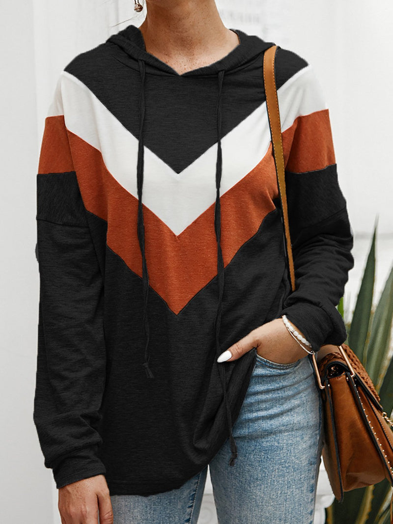 Stripes Hoodie Casual Shirts & Tops