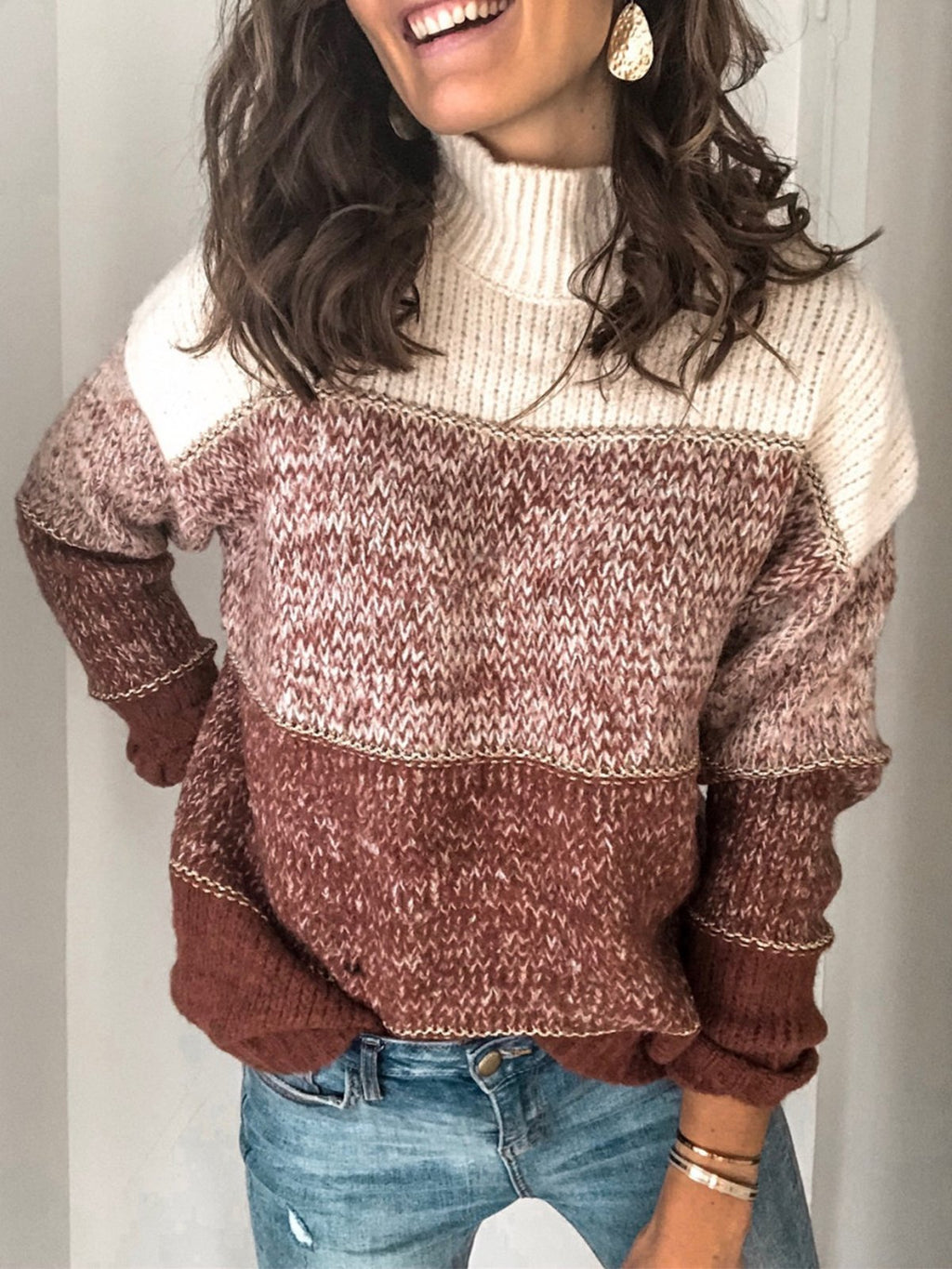 Turtleneck Pullover Loose Comfy Sweaters