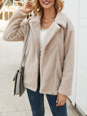 Apricot Double Side Plush Coat