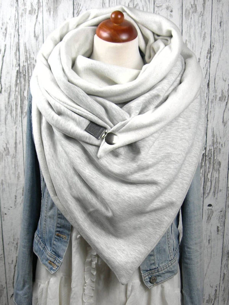 White Cotton Casual Scarves
