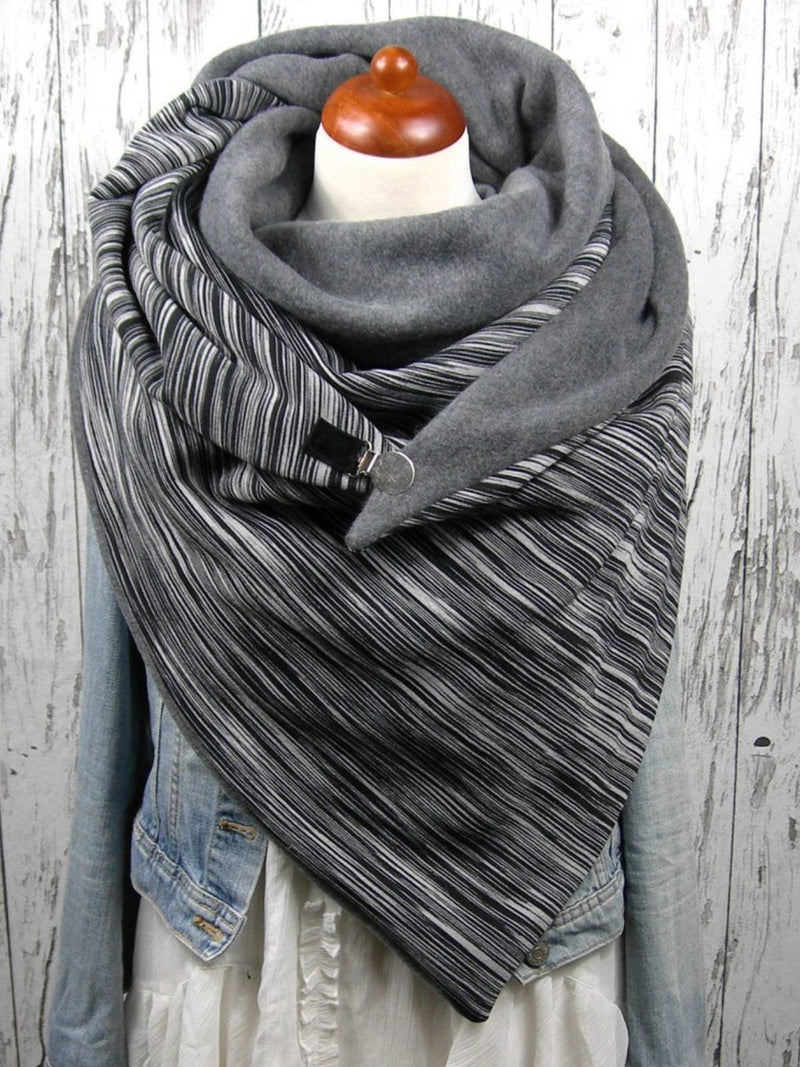 Grey Casual Cotton Scarves