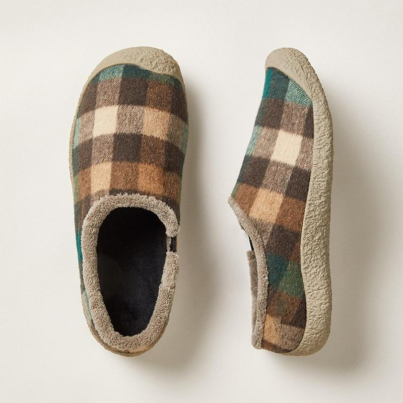 Plaid Print Flats Casual Loafers