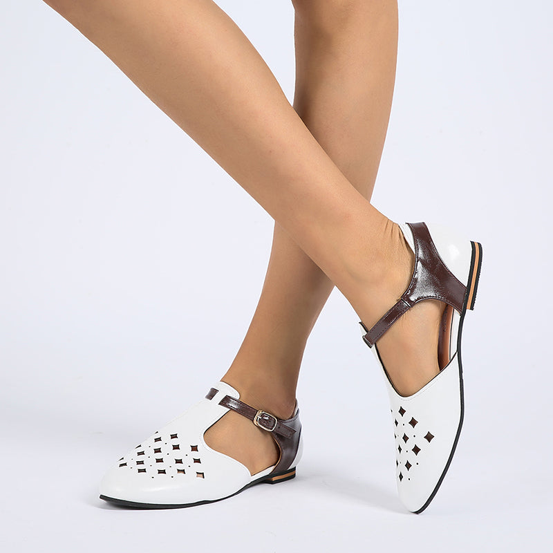 Women Hollow-Out Low Heel Flat Shoes
