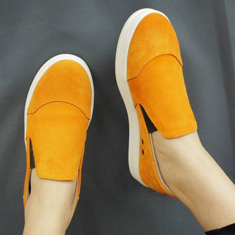 Yellow Flats Well-ventilated Sneakers