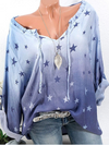 Star Printed Long Sleeve Casual Shirt