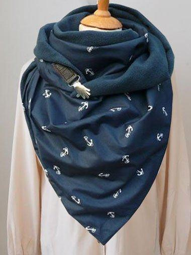Blue Casual Scarves & Shawls