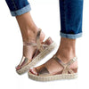 Wedge Heels Hemptwit Sole Sandals