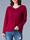 Casual Plain Plus Size Long Sleeve T-Shirts