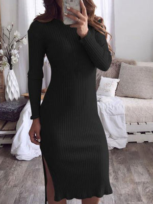 Round Neck Women Fall Dresses Sexy Dresses