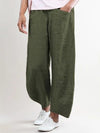 Solid Medium Waist Pockets Plus Size Shift Pants