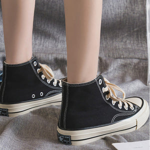 Lace-up Thicker Heel High-top Atheletic Casual Women Shoes