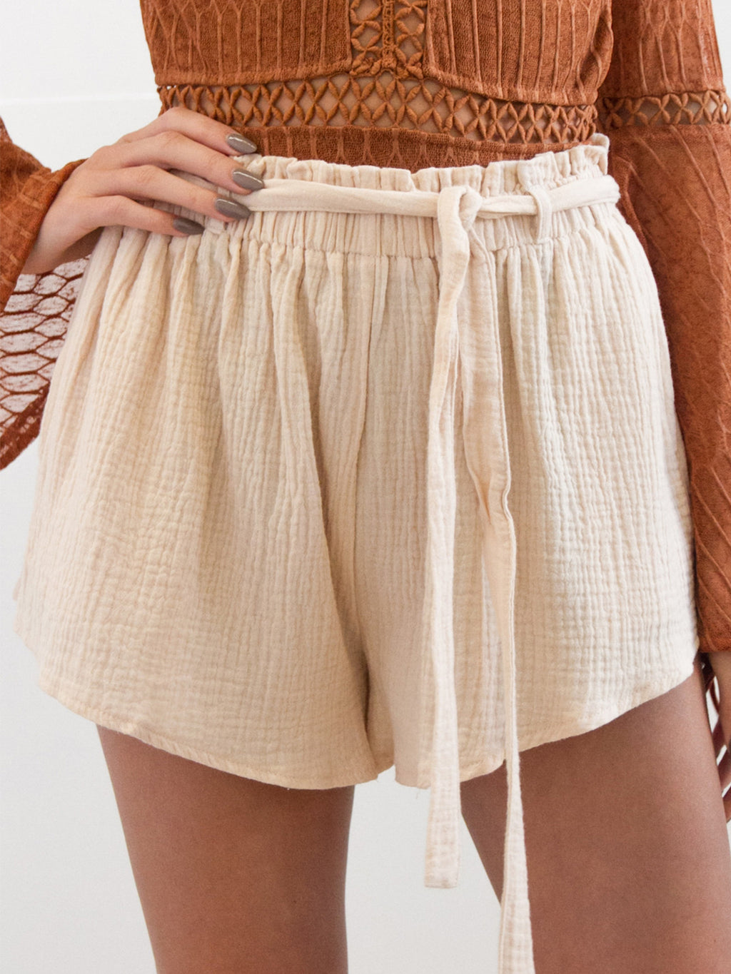 Medium Waist Wide Leg Shorts
