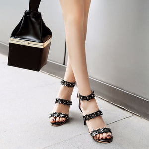 Flower Accessory Decoration Stiletto Sandals