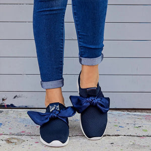 Daily Plus Size Bow Sneakers Shoes