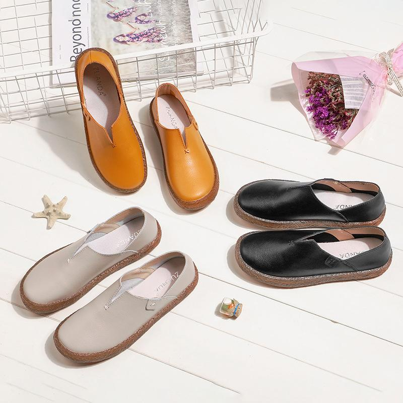 Women Pu Casual Slip on Loafers