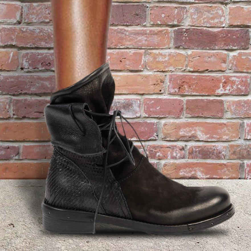 Low Heel Lace-Up Autumn/Winter Ankle Boots