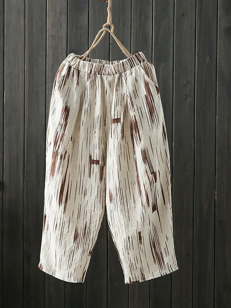 Motley Linen/Cotton Crop Pants
