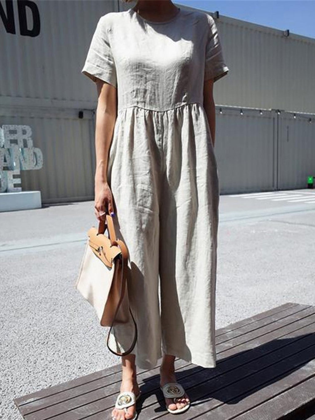 High Waist Solid Wide-Legged Summer Jumpsuits
