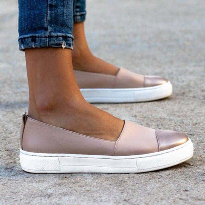 Women Casual Thick Platform Round Toe Flats