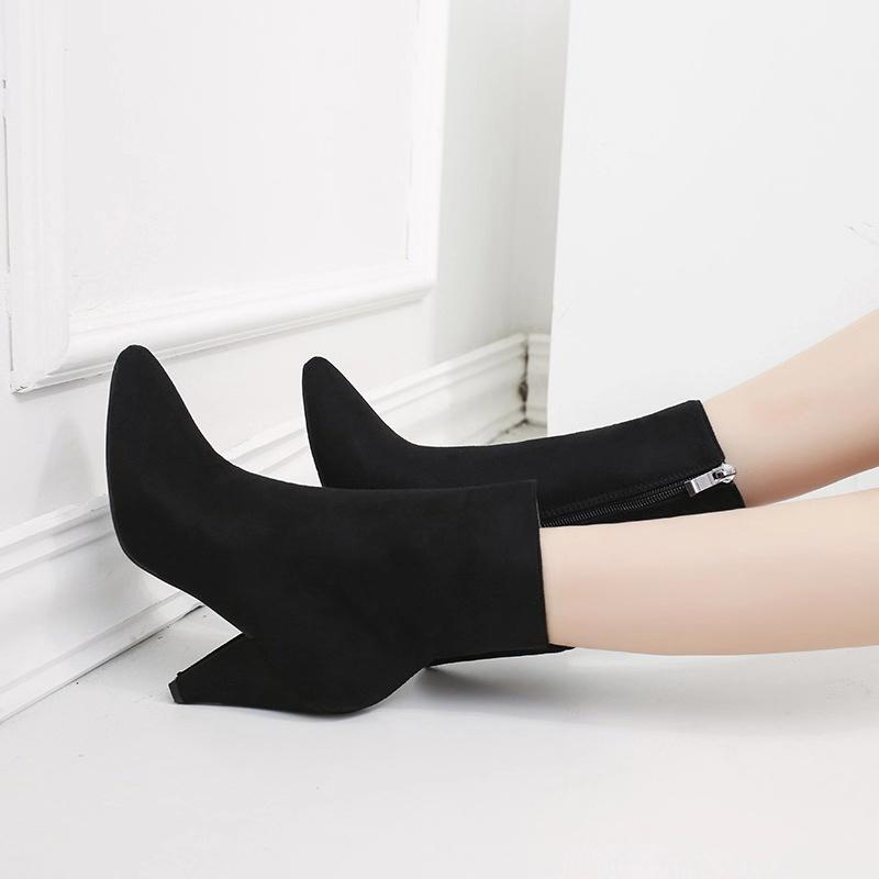 Autumn/Winter Black Point Tor Side-Zipper Ankle Booties