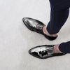 Shiny Pu Point Toe Slip-On Flats