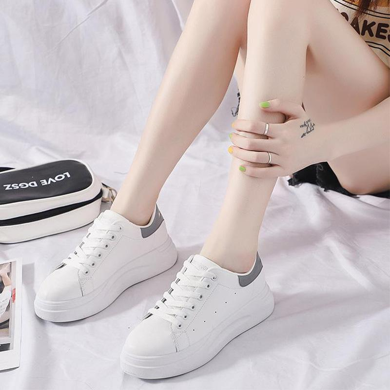 Pu Round Toe All Seasons Daily Casual Sneakers