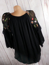 Fashion Long Sleeve Paneled Mesh Embroidery Shirt