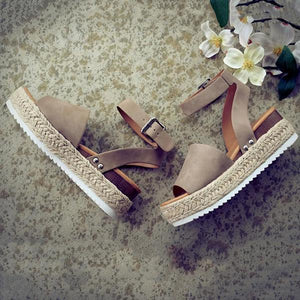 Summer Adjustable Buckle Platform Sandals