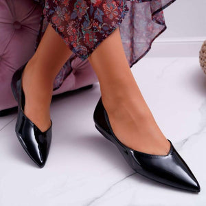 Solid Pointed Toe Pumps Women's Work Shoes
