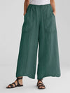 Sidekick Pocket Linen/Cotton Wide-leg Pants