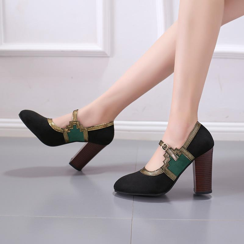 Vintage Split Joint Women's High Heels