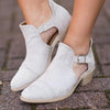 Girl Short Boot Fashion Ankle Strap Hollow Out Chunky Bootie