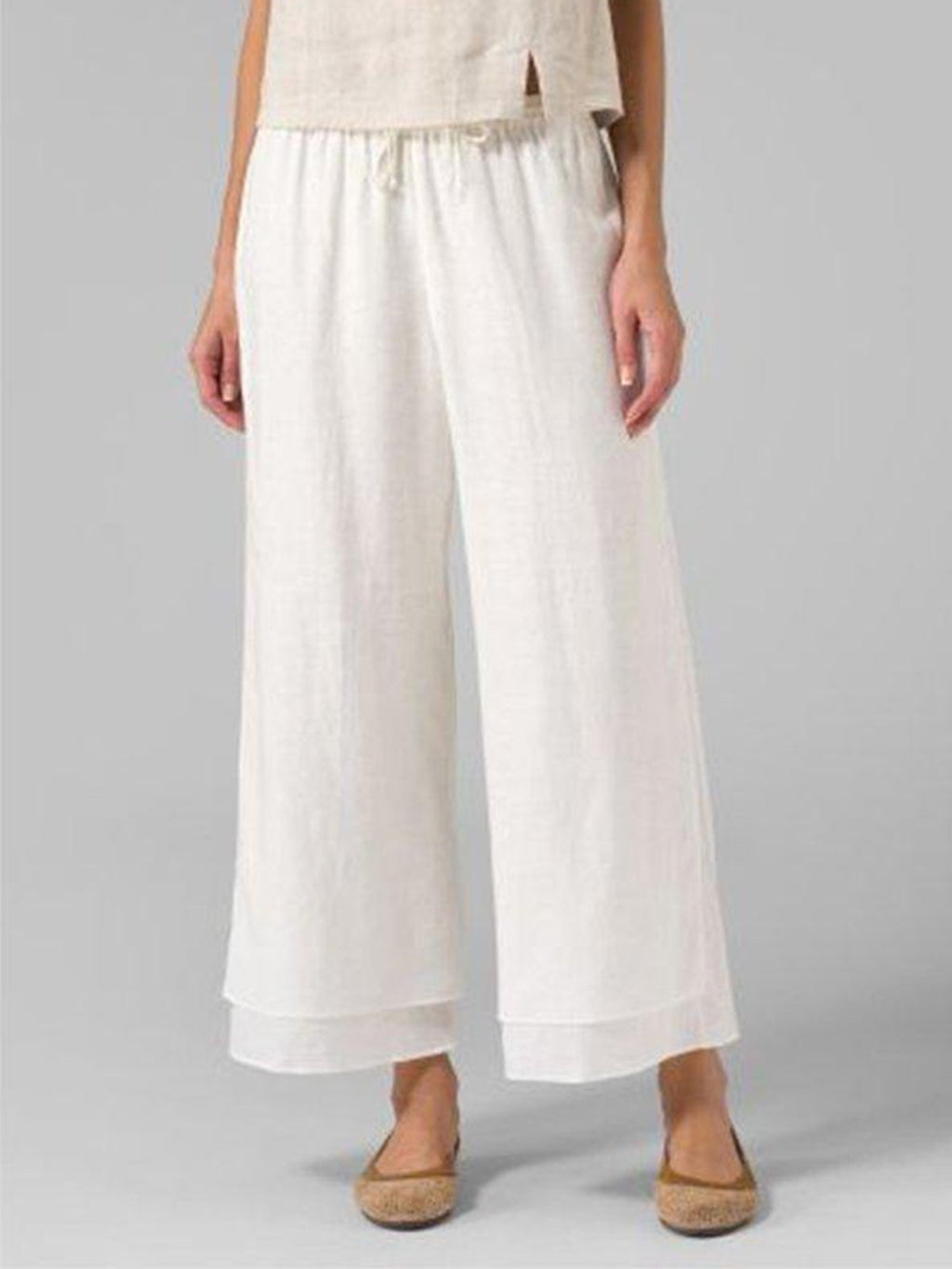 Casual Wide-Legged Layeren Plus Size Pants