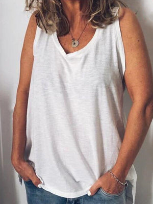 Casual Solid Vest Loose Tank