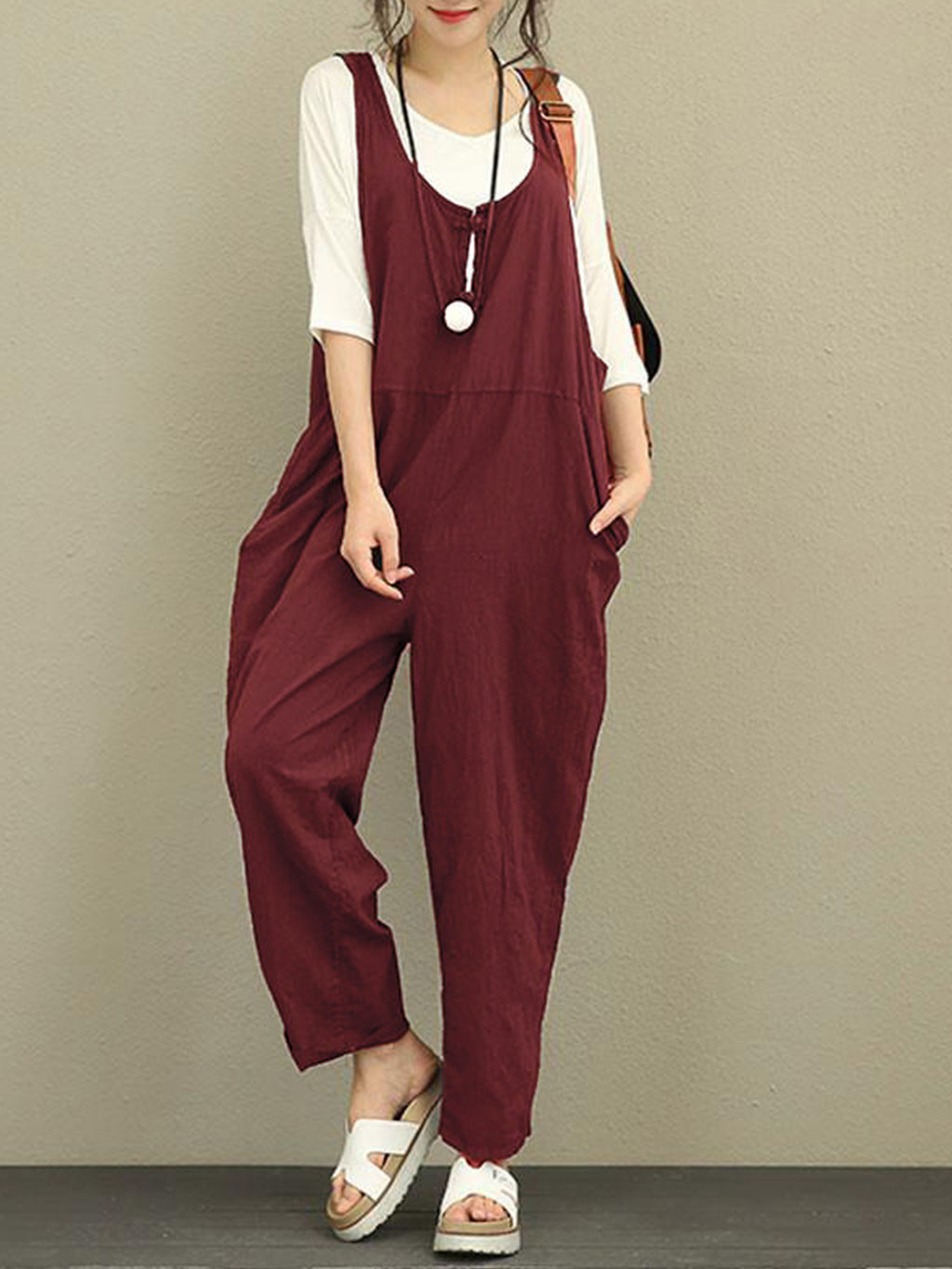 Paneled Loose Shift Jumpsuits