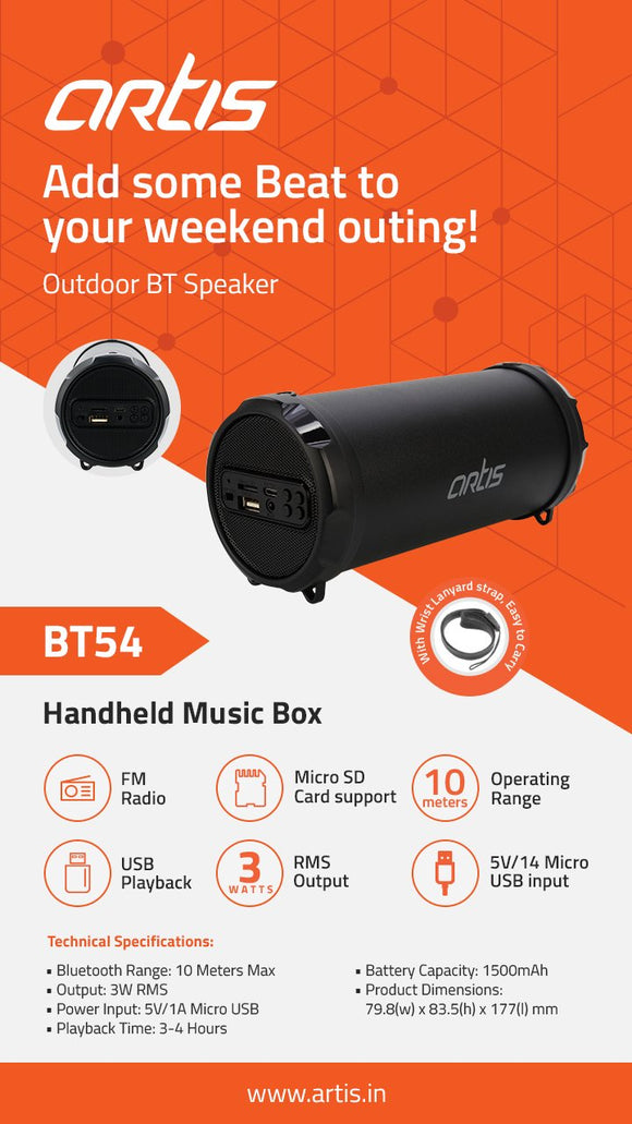 SPEAKERS ARTIS BT 54