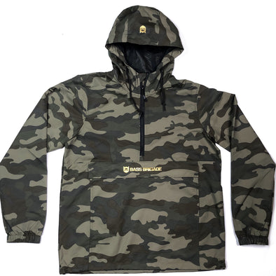 Bass Brigade Camo Windbreaker Pullover Jacket