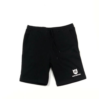 SHIELD SWEAT SHORTS - BLACK