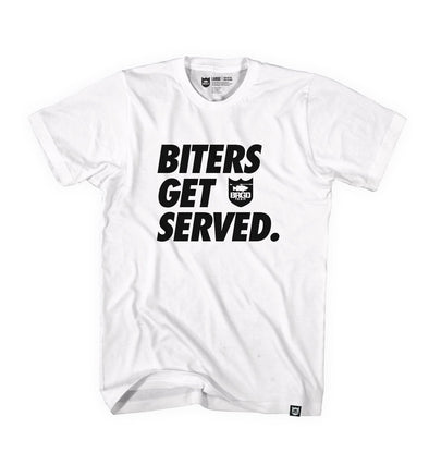 BITERS GET SERVED TEE - WHITE