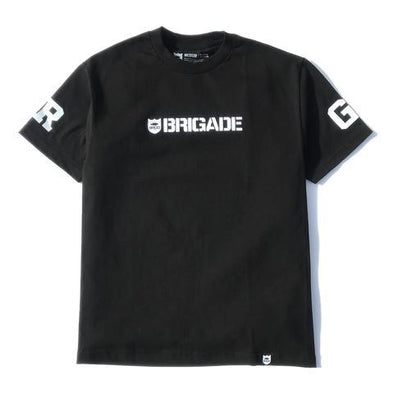 BRIGADE WORDMARK TEE - BLACK/WHITE