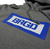 BRGD BOX PULLOVER HOODIE - GUN METAL HEATHER