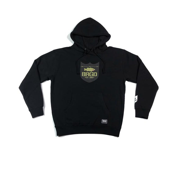 FIGHTER SHIELD PULLOVER HOODIE - BLACK