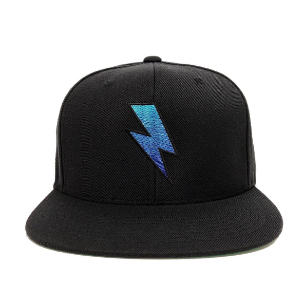 BOLT GRADIENT SNAPBACK HAT - BLACK