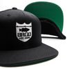 Shield Logo Snapback Hat - Black/White