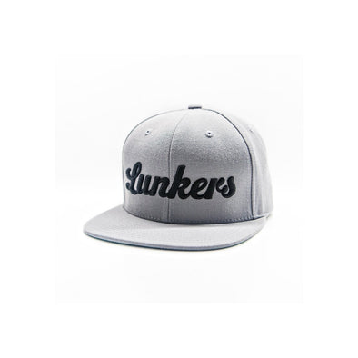 Bass Brigade Lunkers Snapback Hat Grey/Black