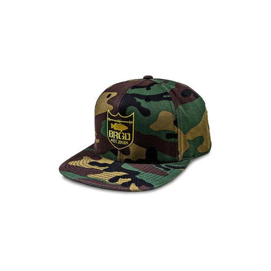 Shield Logo Snapback Hat - Woodland Camo